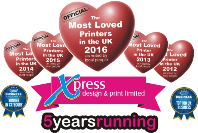 Thank You to all our customers for voting for us and making us the Most Loved Printers in the UK for the fifth year running